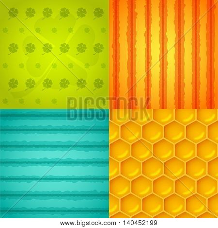 Set of colorful backgrounds. Vector illustration. Cartoon background
