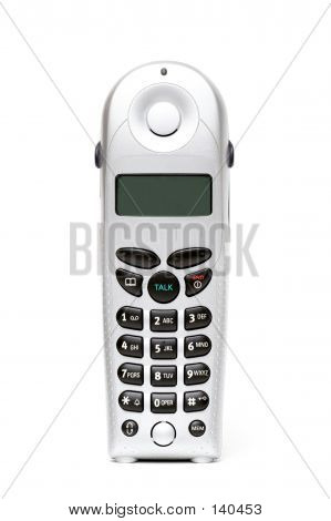 Cordless Phone Over White
