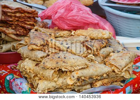 food on street from Nicaragua. Typical food sell.