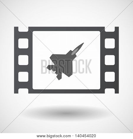 Isolated 35Mm Film Frame With A Combat Plane