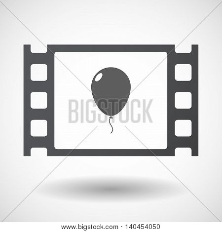 Isolated 35Mm Film Frame With A Balloon
