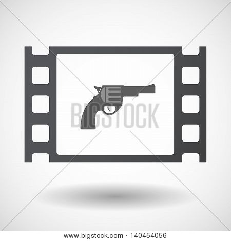 Isolated 35Mm Film Frame With A Gun