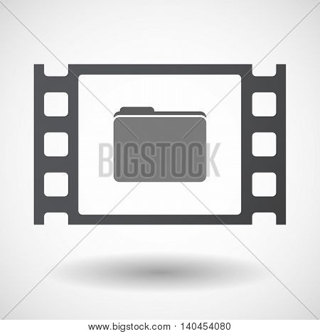 Isolated 35Mm Film Frame With A Folder