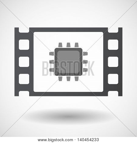 Isolated 35Mm Film Frame With A Cpu