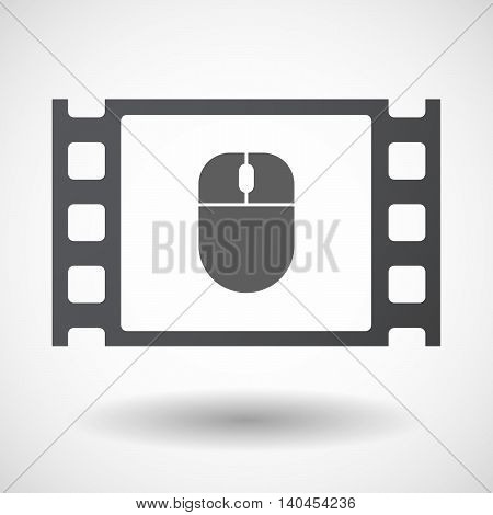Isolated 35Mm Film Frame With A Wireless Mouse