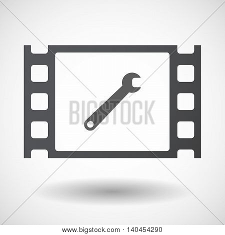 Isolated 35Mm Film Frame With A Spanner