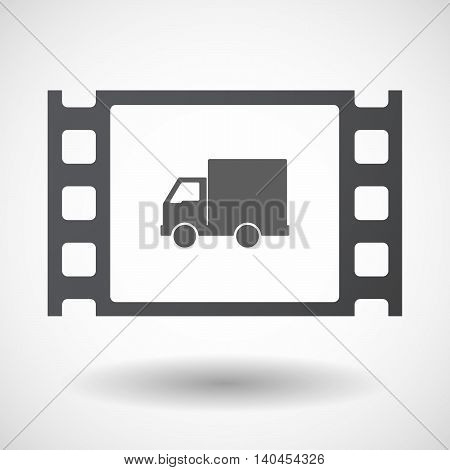 Isolated 35Mm Film Frame With A  Delivery Truck