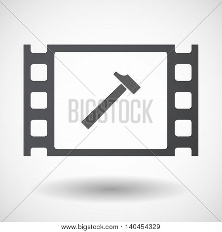 Isolated 35Mm Film Frame With A Hammer