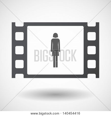 Isolated 35Mm Film Frame With A Female Pictogram