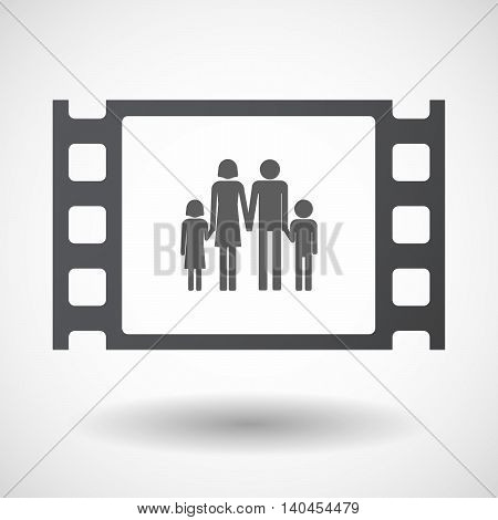 Isolated 35Mm Film Frame With A Conventional Family Pictogram