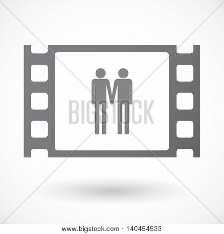 Isolated 35Mm Film Frame With A Gay Couple Pictogram