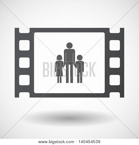 Isolated 35Mm Film Frame With A Male Single Parent Family Pictogram