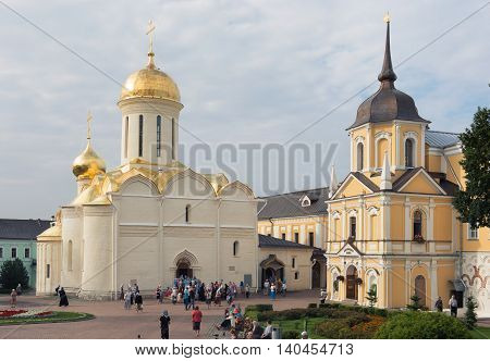 Sergiev Posad, Russia - July, 28, 2016: Trinity Cathedral.
