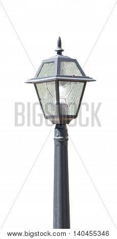 the street lantern on a white background