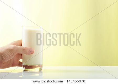 Hand Hold Glass With Milk