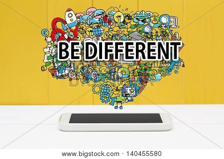 Be Different Concept With Smartphone