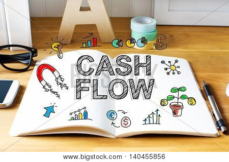 Cash Flow Concept With Notebook