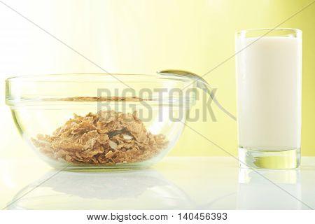 Milk And Corn Flakes