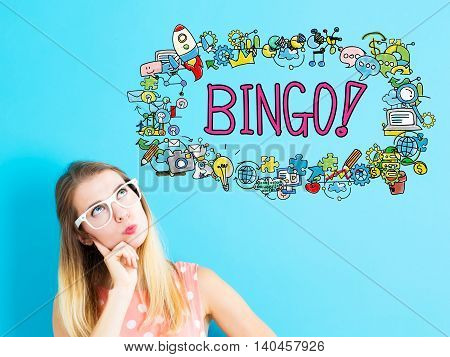 Bingo Concept With Young Woman