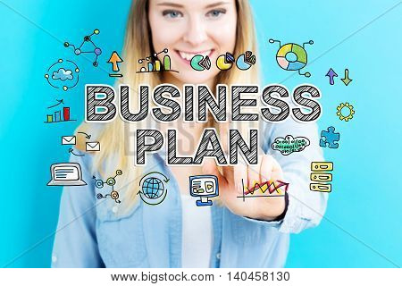 Business Plan Concept With Young Woman