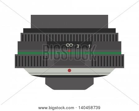 Photo optic lenses vector