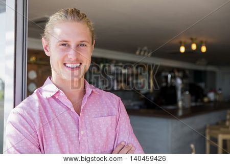 Portrait of restaurant manager in restaurant
