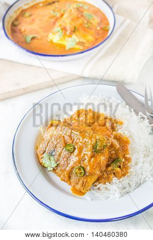 Fish In Curried Coconut Sauce Recipe in Indian Style
