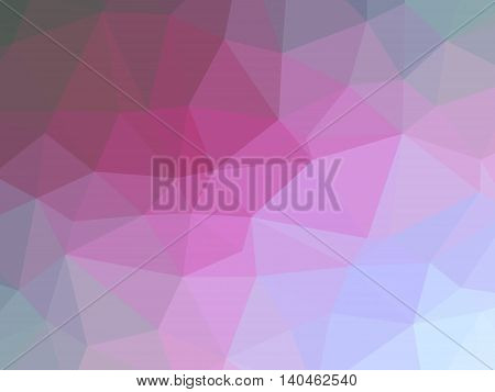 Abstract pink magenta grey gradient low polygon shaped background.