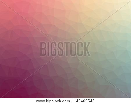 Abstract pink yellow gradient polygon shaped background.