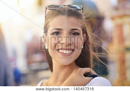 Girl with a beautiful smile