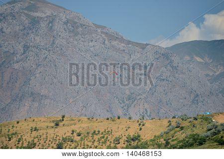 The mountain ranges of the Tien Shan near Tashkent. The resort zone of Chimgan.