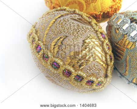 Two Easter Egg Gold And Silver 3