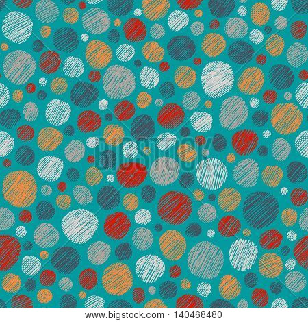 Messy Drops On Blue Background, Seamless Pattern