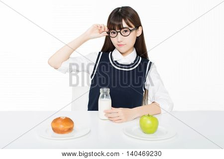 Girl Sitting In A Quiet Room