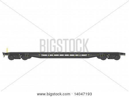 Rail wagon front view