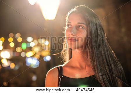 Cute girl looking away
