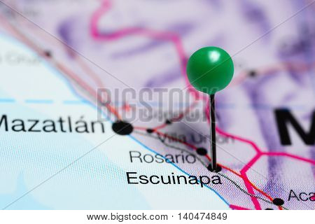 Escuinapa pinned on a map of Mexico