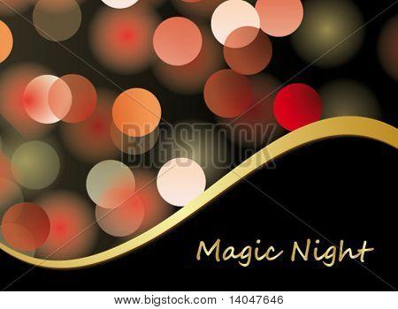magic night - glittering bokeh background