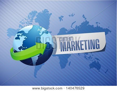 content marketing global sign concept illustration design graphic