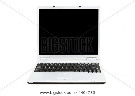 Opened Laptop (Isolated On White)