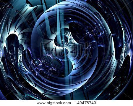 Abstract Glossy Ball - Digitally Generated Image