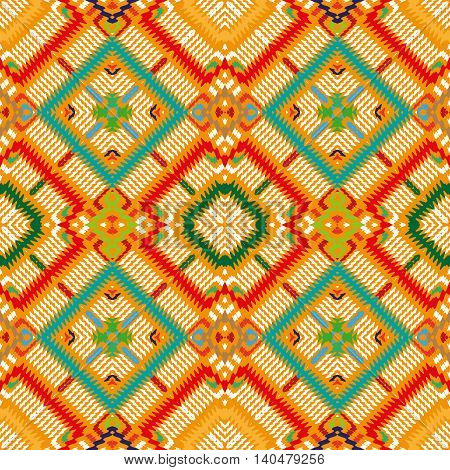 Vector seamless pattern, abstract yellow geometric background illustration, fabric textile pattern