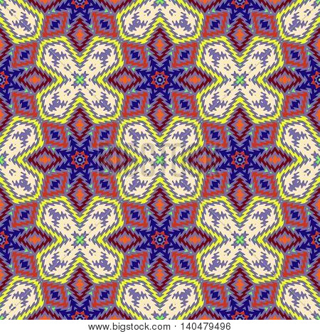 Tribal geometric vector pattern. Seamless ethnic background