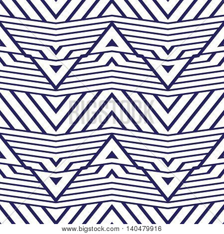 Color vector seamless pattern. Abstract blue geometric background illustration