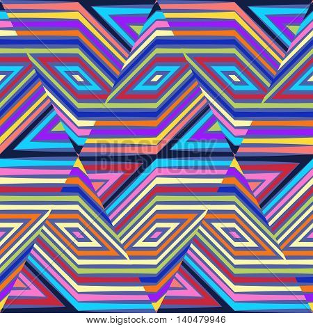 Color vector seamless pattern. Abstract geometric background illustration
