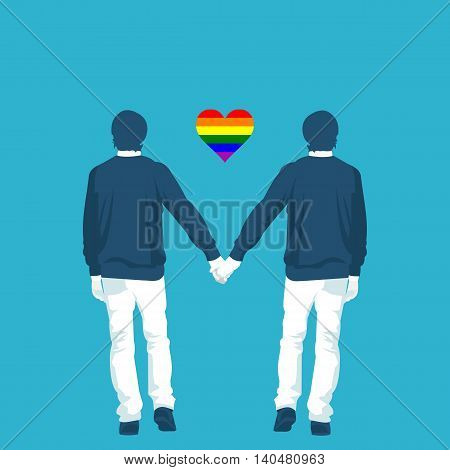 LGBT community is gay in vector format eps10