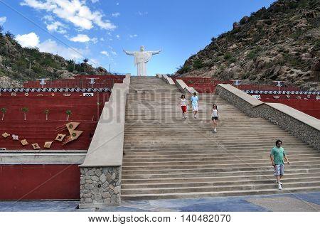 Jesus Christ Monument, Cristo Del Portezuelo In Chilecito