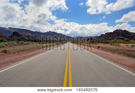 Road Ruta 40 In Cuesta De Miranda. Argentina