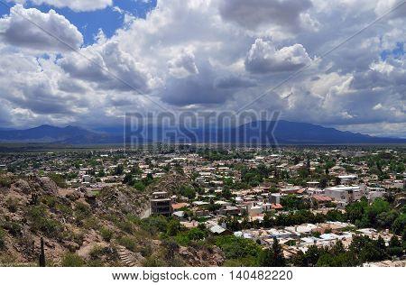 View of Chilecito city. La Rioja. Argentina
