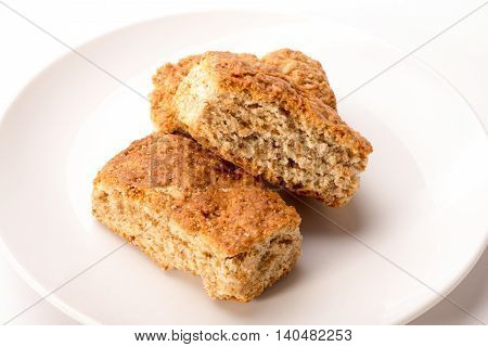 Whole Wheat Rusks On Plate